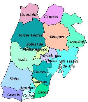 Lisabon Nizsi Uzemni Celky