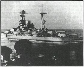 obr.5 HMS Ramillies - Britská bitevní loď třídy R, spuštěna na vodu roku 1917