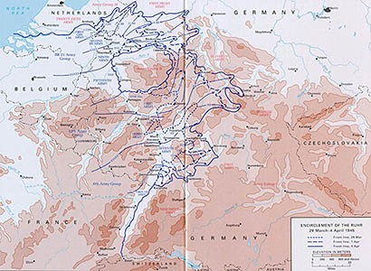 Obklíčení Porúří - 29.března - 4.dubna 1945