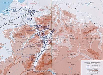 Přechod řeky Rýn - 22.-28.března 1945