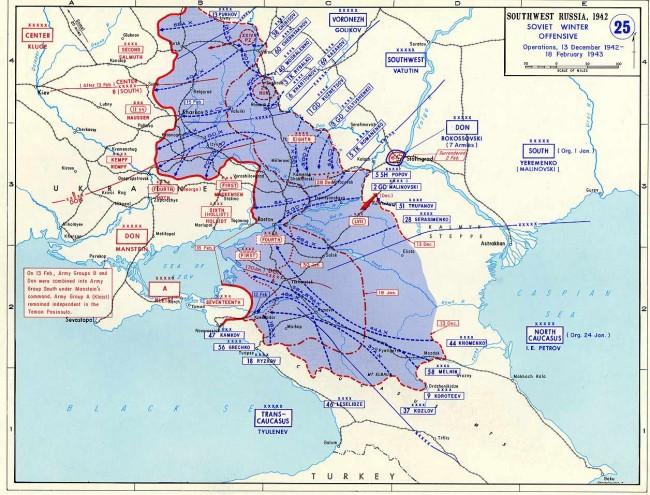 Zatlačení němců zpět a konec 6. armády