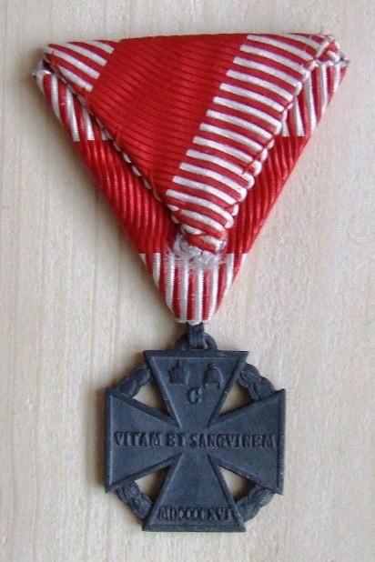 Karlov vojenský kríž - reverz [foto: Ivan Chudý]