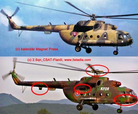 porovnanie Mi-17 a Mi-17M