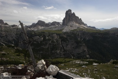 obr. 4 – Pohled na Tre Cime di Lavadero