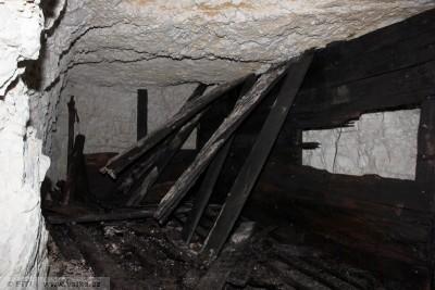 obr. 17 - Italská minová štola