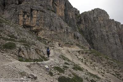 obr. 20 - Severní cesta na Monte Piana