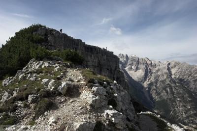 obr. 25 – Hrana pod severním vrcholem Monte Piana