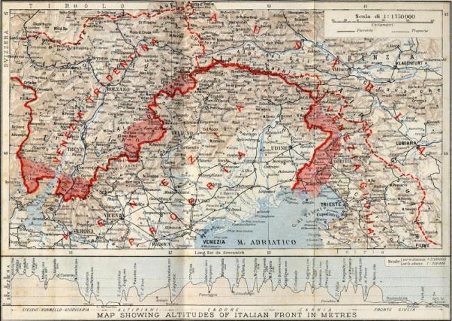 Prubeh 1 Svetove Valky V Italii 1915 1918
