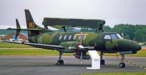 Letoun Metro III byl prvním nosičem AEW radiolokátoru ve Švédsku